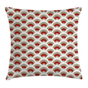 Seashell Oriental Scallop Art Pillow Cover