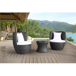 Cresta 3 Piece Conversation Set with Cushions by Velago