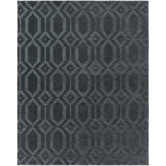 Wrought Studio Brack Geometric Handmade Wool Blue Area Rug Reviews Wayfair