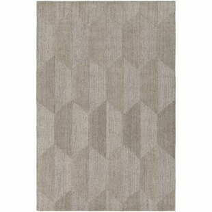 Affordable Price Beatrice Hand-Tufted White/Medium Gray Area Rug By Langley Street