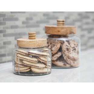 Modern Glass 5 qt. Kitchen Canister Set