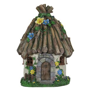 Twig Roof House Fairy Garden By Exhart