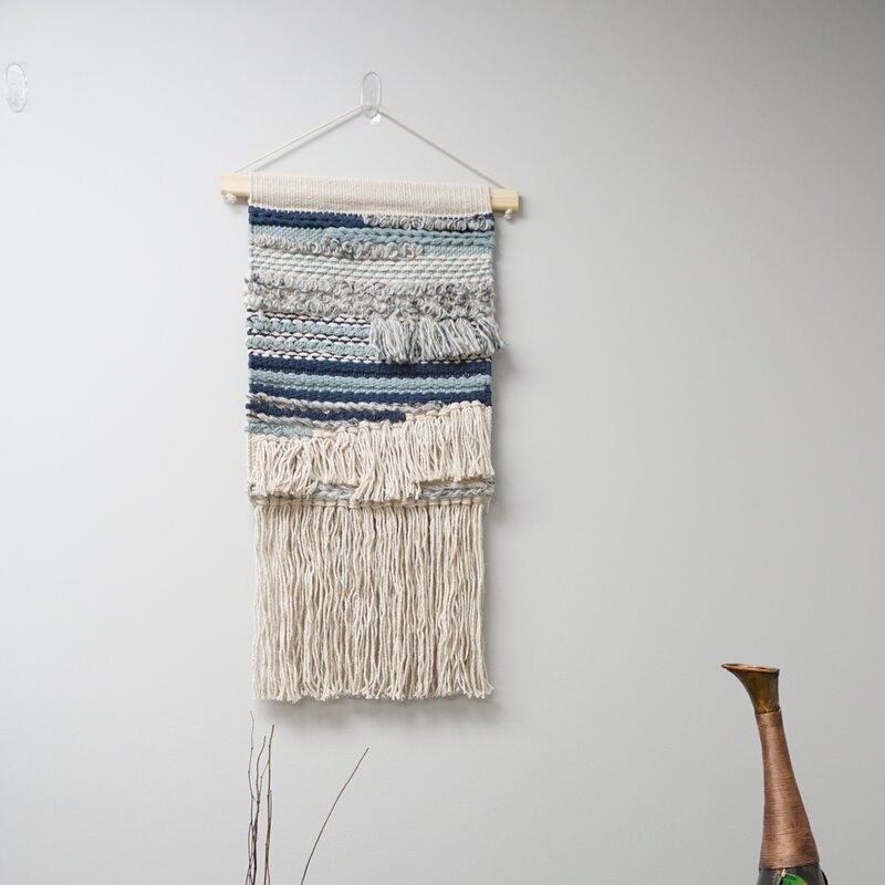 Bungalow Rose Wool And Cotton Macrame Wall Hanging With Rod Included Wayfair