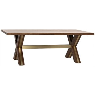 Noir Millennium Solid Wood Dining Table