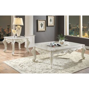 Astoria Grand Towner Apron Living Room 2 Piece Coffee Table Set