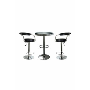 Kunzler 3 Piece Adjustable Pub Table Set