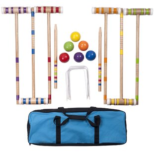 Hey! Play! 24 Piece Croquet Set