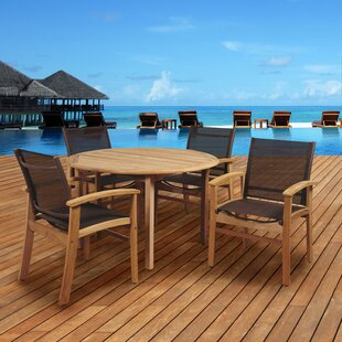 Mercury Row Cusack 5 Piece Teak Dining Set