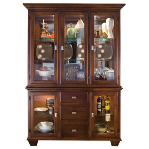 Hampton Lighted China Cabinet by Conrad Grebel