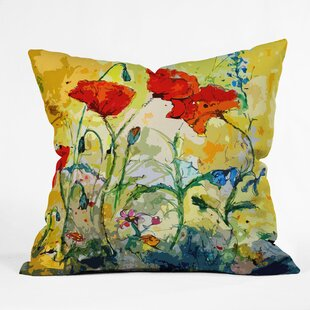 Poppies Provence Outdoor Throw Pillow