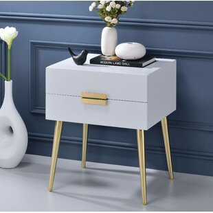 Everly Quinn Keithley 1 Drawer Nightstand