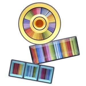 Sands 3 Piece Melamine Divided Serving Dish/Platter/Chip And Dip Platter