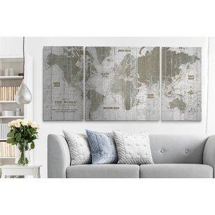 Old World Map Wall Art Wayfair