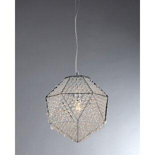 Kevan 1-Light Crystal Pendant by Orren Ellis