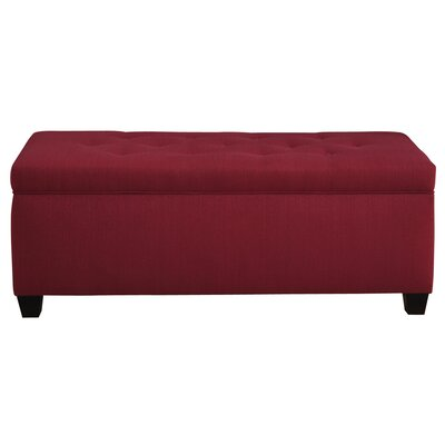 Winston Porter Paisleigh Upholstered Shoe Storage Bench Size: Small, Finish: Candice Berry