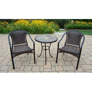 Oakland Living Stone Art Tuscany 3 Piece Bistro Set