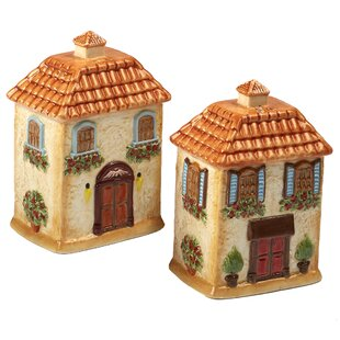 Piazzette 3D Villa Salt & Pepper Shaker Set