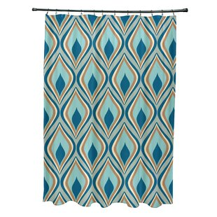 Shop For Menara Geometric Shower Curtain By Bungalow Rose