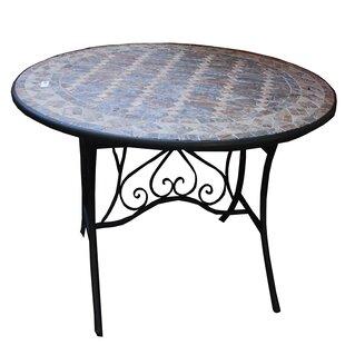 Fleur De Lis Living Charest Round Mosaic Metal Bistro Table