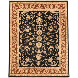 Buying One-of-a-Kind Eirwen Hand-Knotted Black/Beige Area Rug By Isabelline