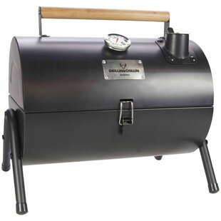 34cm Gusta 2-in-1 Portable Charcoal Barbecue With Smoker By Symple Stuff