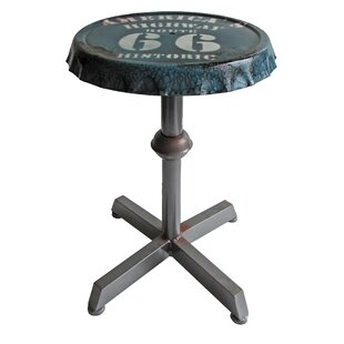 Arms Bottle Cap Adjustable Height Bar Stool by Williston Forge