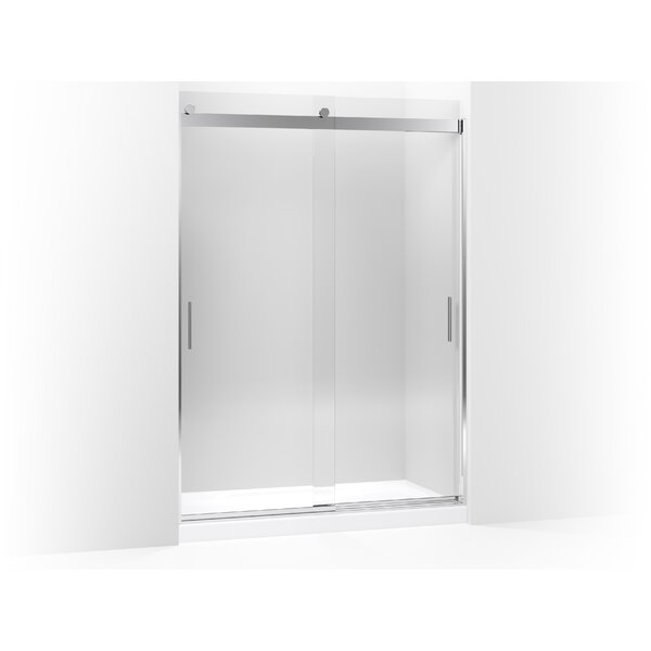 Kohler Levity Sliding Shower Door 82 H X 56 625 59 W With 0 3125 Thick Crystal Clear Gl And Blade Handles