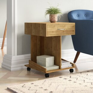 Stollings Side Table With Storage By Mercury Row