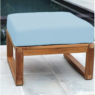 Sales Priced Wawona Outdoor Teak Ottoman With Sunbrella Cushions By Foundry Select Collection 2020