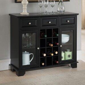 spencer wood server with 12 bottle floor wine cabinet