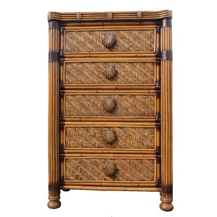 Popel Highboy 5 Drawer Chest