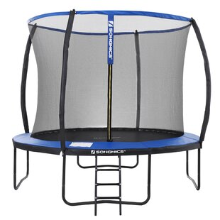 Garden 12' Round Trampoline With Safety Enclosure By Songmics