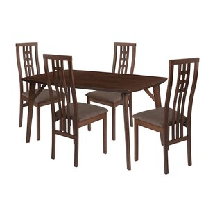 Skillman 5 Piece Solid Wood Dining Set by Winston Porter