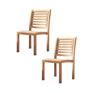 Farmhouse Rustic Stackable Outdoor Dining Chairs Birch Lane