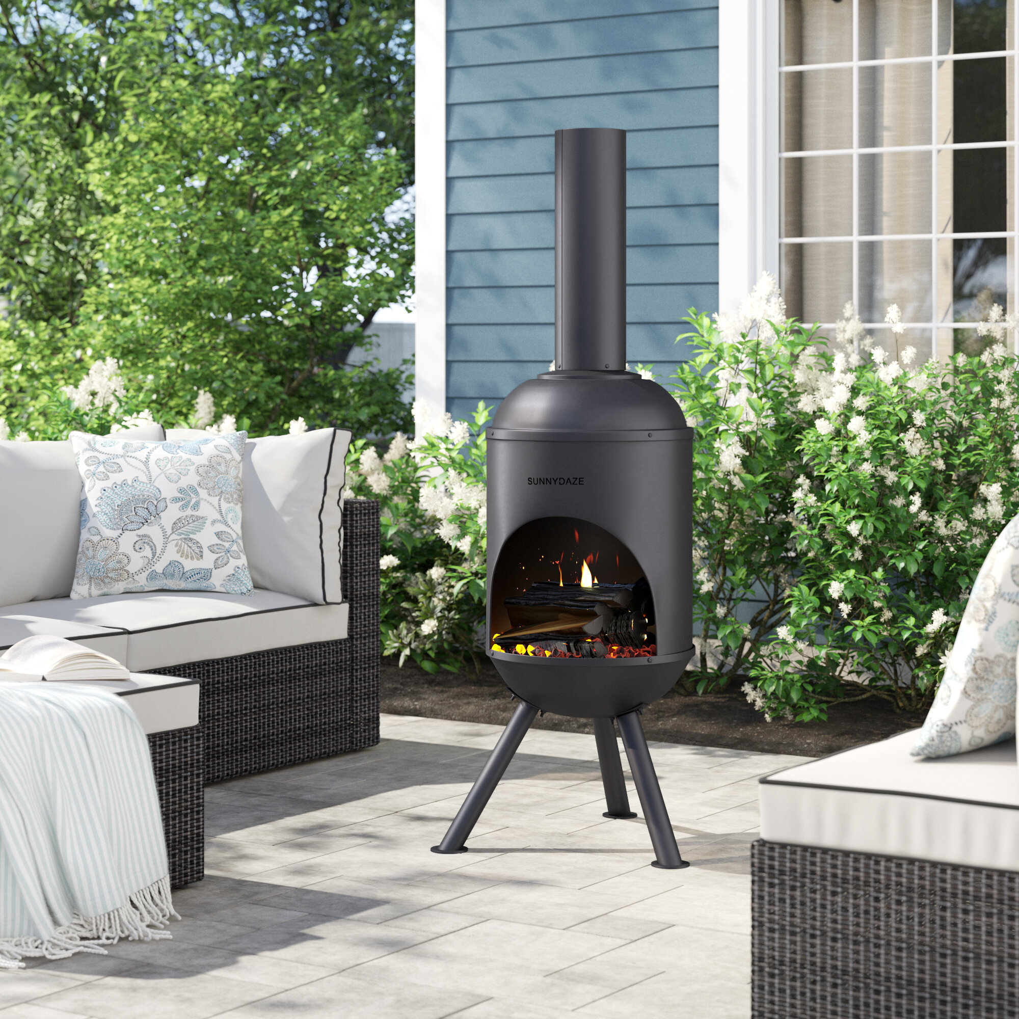 Kelly Clarkson Home Clayton Steel Wood Burning Chiminea Reviews Wayfair