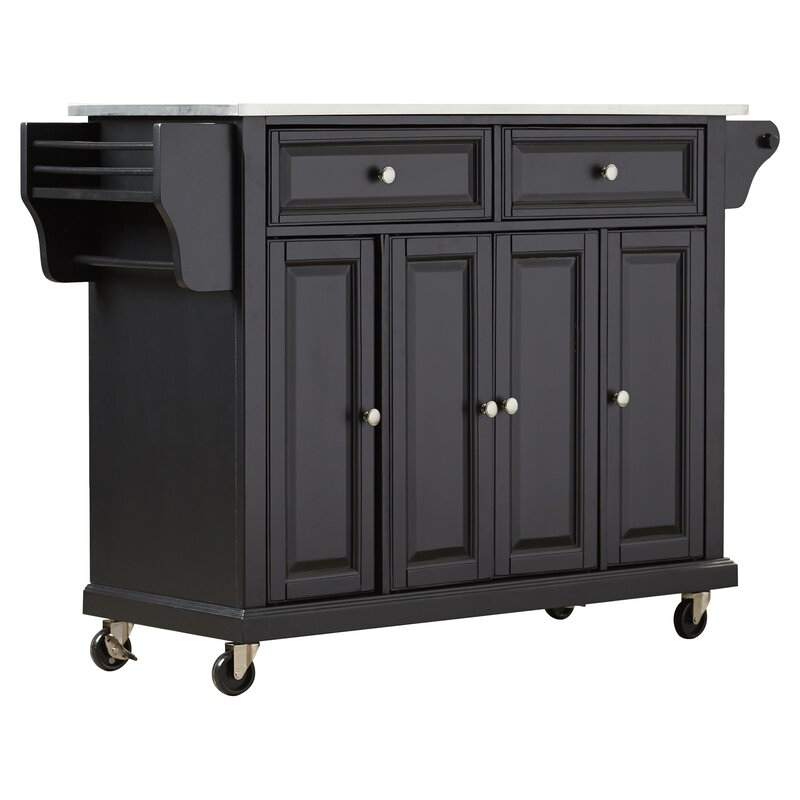 Kitchen Island No Assembly Required darby home co pottstown kitchen island with stainless steel top