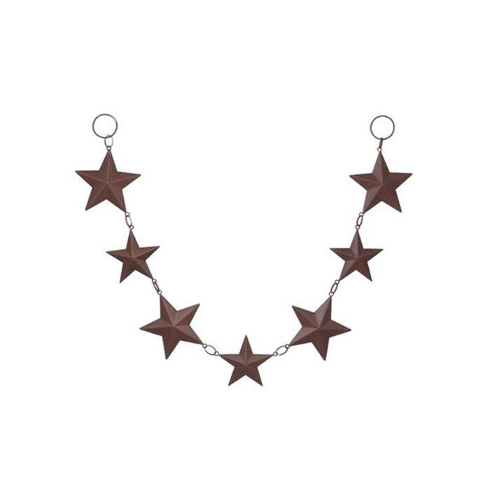 August Grove Tin Star Rusted Garland Wall Décor & Reviews | Wayfair.ca