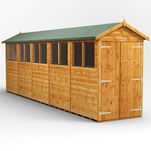 4 Ft. W X 20 Ft. D Shiplap Apex Wooden Shed By WFX Utility
