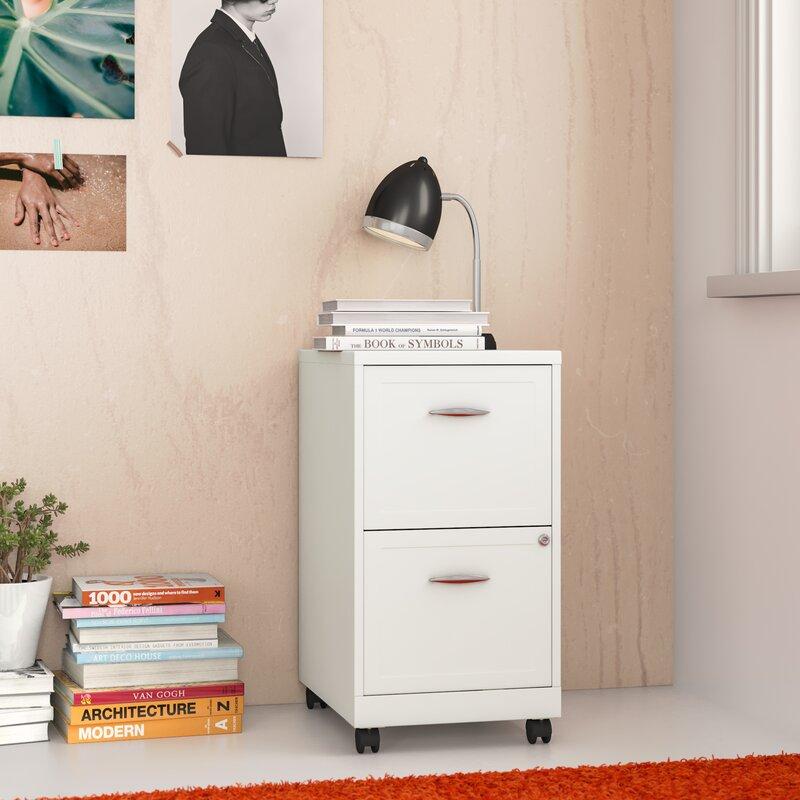 Zipcode Design Gigi 2 Drawer Mobile Vertical Filing Cabinet Reviews Wayfair
