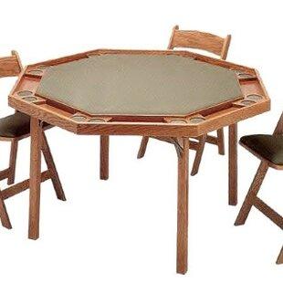 Top Reviews 52 Oak Contemporary Folding Poker Table Set ByKestell Furniture