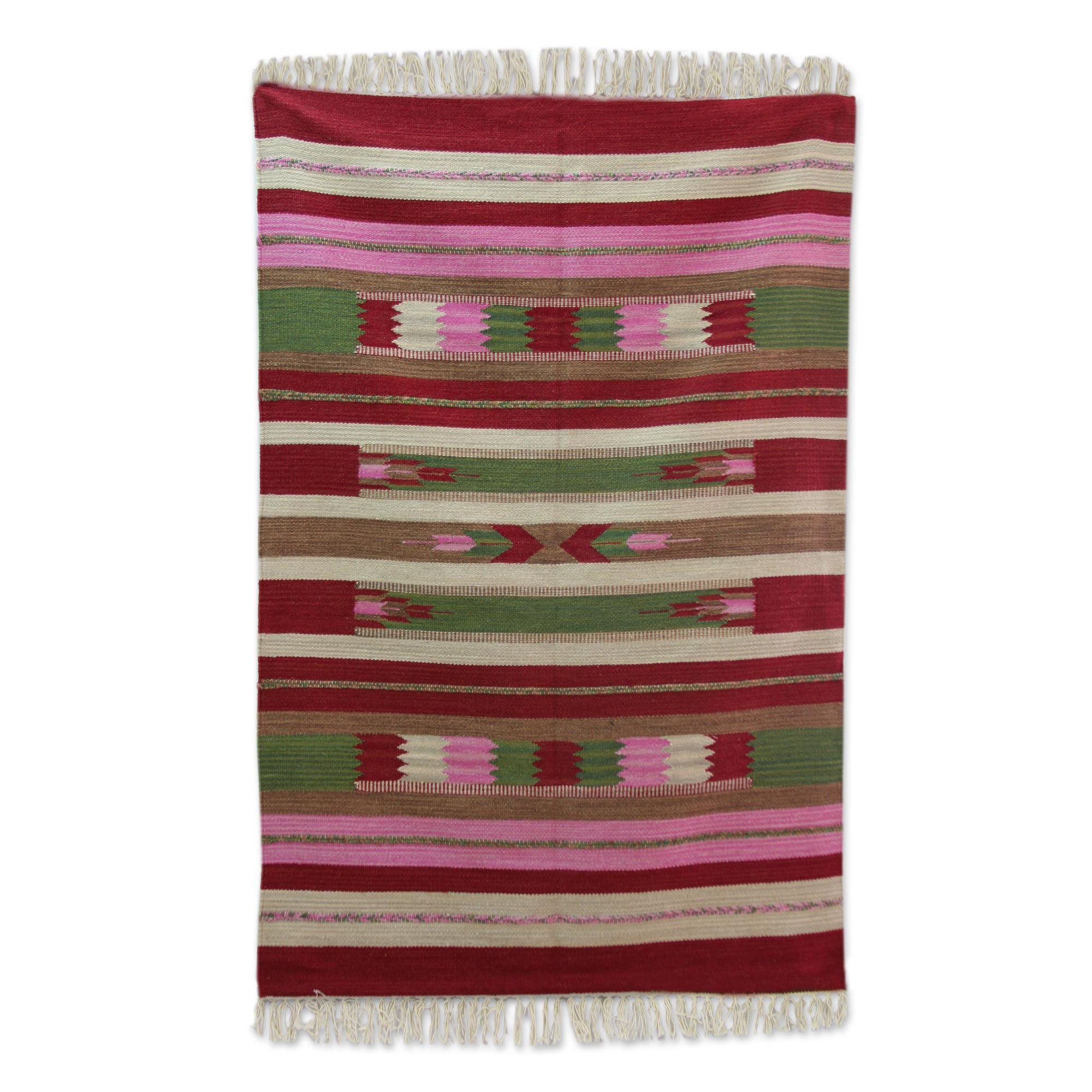 Bloomsbury Market Abadie Dhurrie Hand Woven Wool Red Area Rug Wayfair