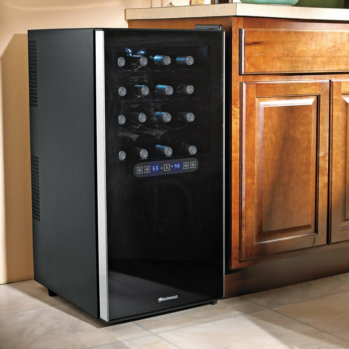 32 Bottle Silent Dual Zone Freestanding Wine Cooler