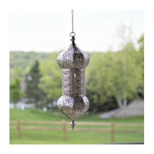 Astoria Grand Schwan Punched Metal 1-Light LED Outdoor Hanging Lantern