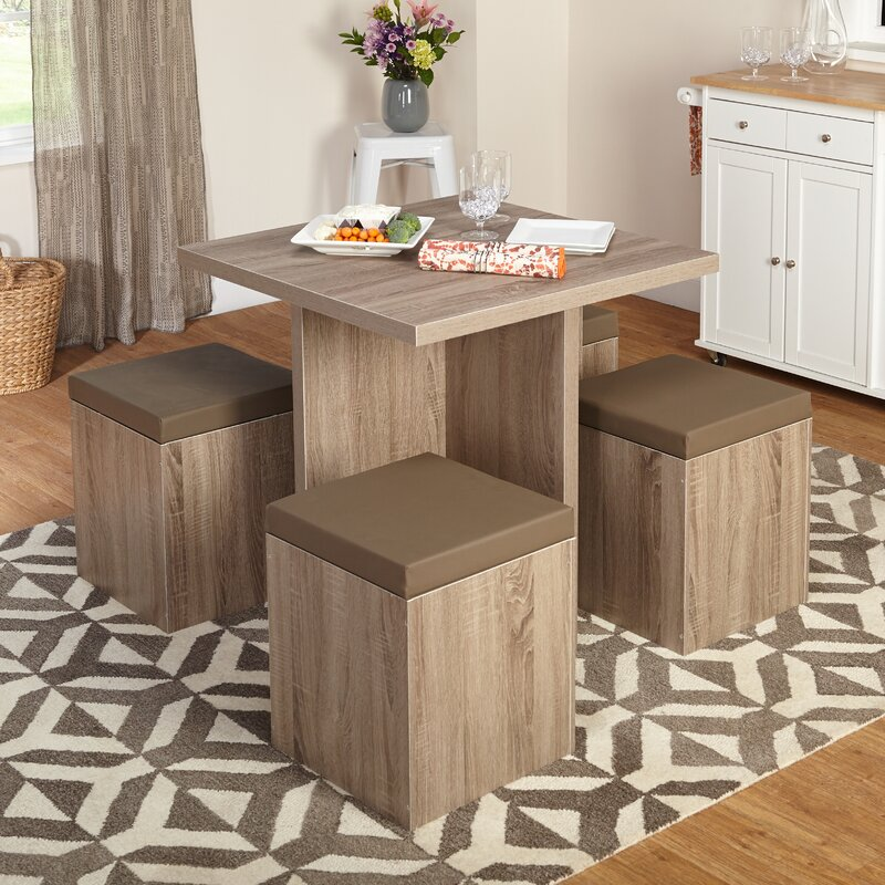 5 Piece Dining Sets mercury row osgood 5 piece dining set & reviews | wayfair