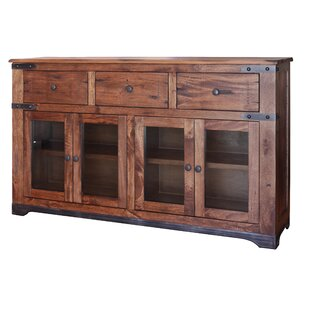 Stodola 3 Drawer 4 Glass Door Sideboard