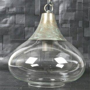 Whitlow Metal and Glass 1-Light Teardrop Pendant by Gracie Oaks