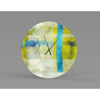 Wrought Studio Bergfield Oversized 48 75 Wall Clock Reviews Wayfair Ca