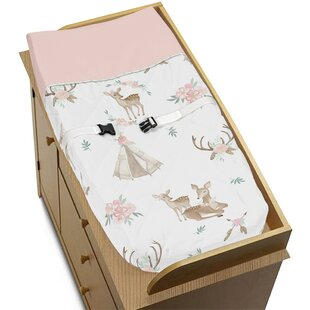 Searching for Deer Floral Changing Pad Cover By Sweet Jojo Designs