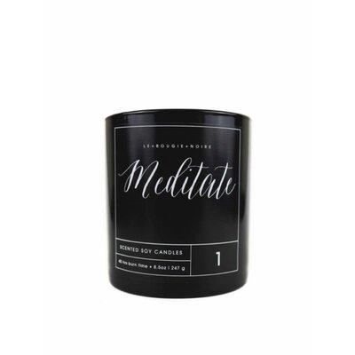 LA BOUGIE NOIRE HOME FRAGRANCES Meditate Scented Jar Candle Ounces: 18 oz.