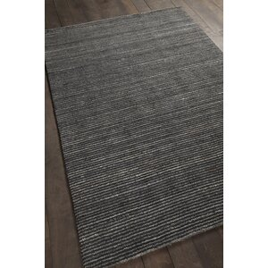 Evodio Textured Contemporary Charcoal Area Rug
